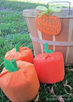 DIY Pumpkin Chuckin' Halloween Game is a quick and easy activity that makes for hours of fun for both kids and adults alike. It's also a great kid-friendly activity for Thanksgiving Day, whether you've got a bunch of family visiting or it's just a small holiday affair.