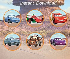 The Disney Cars Cupcake Toppers Disney Cars Birthday by DonaShope