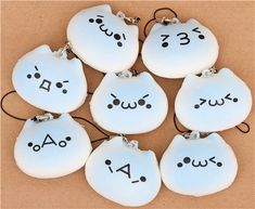 blue cat bread roll squishy cellphone charm 2