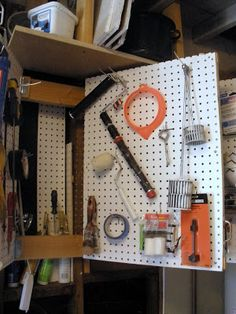 """Pregnant... with power tools: The Workshop: Pegboard """"Book"""" of Tools"""
