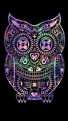 Tribal owl galaxy iPhone/Android wallpaper I created for the app CocoPPa!