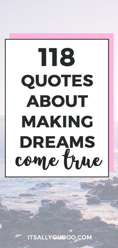 Ready to make your dreams to come true? Click here for 118 inspirational making dreams come true quotes. Find the motivation to work hard and may all your dreams come true. #DreamLife #DreamBig #AchieveYourGoals #ReachingYourGoals #InspirationalQuotes #QuotesToLiveBy #QuotesDaily #QuotesToRemember #MotivationalQuotes #Motivation #GoalDigger #GoalGetter #GoalCrushing #AccomplishGoals #PositiveQuotes #PersonalGrowth #LifeGoals #GrowthMindset #LifeYourBestLife Dreams Come True Quotes, Make Dreams Come True, Dream Quotes, Dream Come True, Quotes To Live By, Wall Art Quotes, You Gave Up, Dream Life, Life Goals