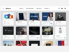 Behance Redesign Concept on Behance