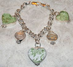 waste not, want not..jewelry made out of broken china pieces, awesome idea!