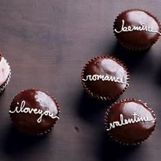 Wedding Cupcakes via Martha Stewart.