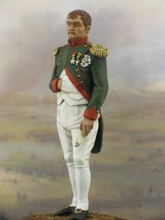 Napoleon. Year 1805  Historical miniature of the French Emperor 54 mm high, 1/32 scale. This historical miniature displays the year 1805, when Napoleon was crowned as King of Italy. #historicalminiatures #tinsoldiers #artig