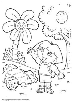 printable dora coloring pages dora the explorer coloring pages kidsdrawing free coloring pages online - Dora Explorer Coloring Pages Free Printable