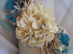 At the Butterfly Ball: Paper Flower Tutorial using vintage sewing patterns (part 2)