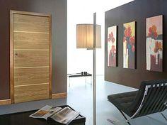 wood inlaid with metal front door