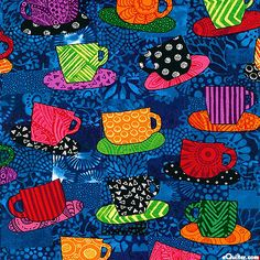 Jaime Fingal - Home Is Where Your Story Begins - Tea Time - Quilt Fabrics from www.eQuilter.com