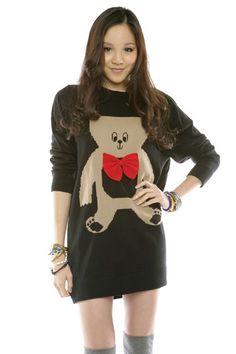 Teddy Bear Sweaterdress - $85.00 @ Shoptiques.com