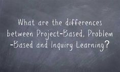 """""""What Are Differences Between Project-Based, Problem-Based & Inquiry Learning?"""" 