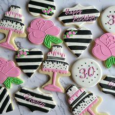 Iced Cookies, Cute Cookies, Easter Cookies, Sugar Cookies, Happy Birthday Cookie, Birthday Cookies, 50th Birthday, Cookie Designs, Cookie Ideas