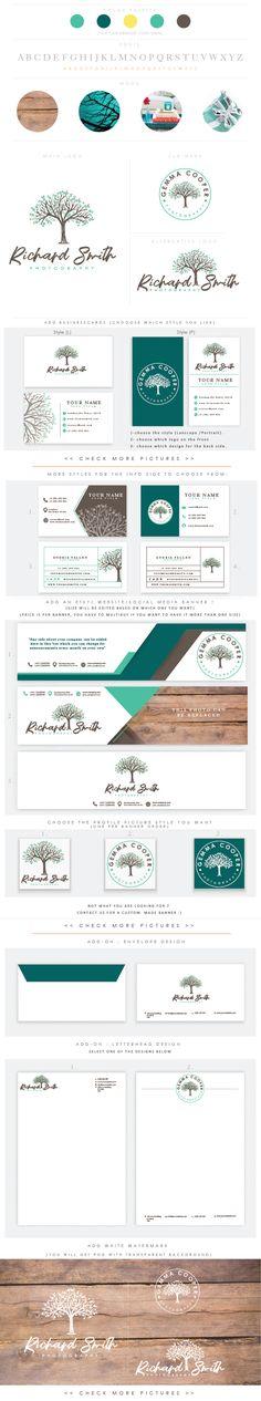 whimsical full bloom tree - Premade Photography Logo and Watermark, handwriting Elegant Script Font TREE children photography branding kit