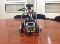 Building our own Wall-E with Arduino. Step 5: Adding the head of the robot.  #csed #robotics #arduino #LEGO #programming