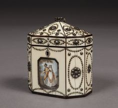 An Extremely Rare Antique Polished Steel and Ivory Tea Caddy in the Russian Style of the Tula Workshops : The British Antique Dealers' Association. C1785