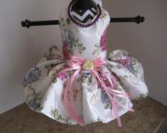 Pink Rose  Princess Dog Dress by NinasCoutureCloset on Etsy