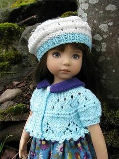 "Robin's Egg Blue Sweater Hat by Tuula Fits 13"" Effner Little Darling to A ""T"" | eBay. Ends 4/12/14. Start bid $52.99 or BIN $69.99."