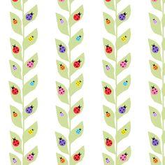 Colorful Ladybugs On Vine fabric by arttreedesigns on Spoonflower - custom fabric