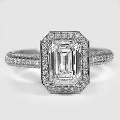 18K White Gold Enchant Halo Diamond Ring