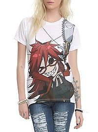 HOTTOPIC.COM - Black Butler Grell Sublimation Girls Top