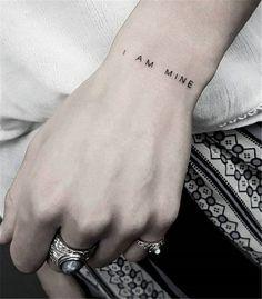 Feminist Tattoo Designs Show Girl Power - Blurmark - I& My Fe . - feminist tattoo designs show Girl Power – Blurmark – I am my fine wrist tattoo. Wörter Tattoos, Neue Tattoos, Body Art Tattoos, Small Tattoos, Tatoos, Tattoo Drawings, Henna Tattoo Designs, Diy Tattoo, Get A Tattoo