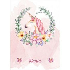 Unicorn blanket Name blanket for baby girl Unicorn baby