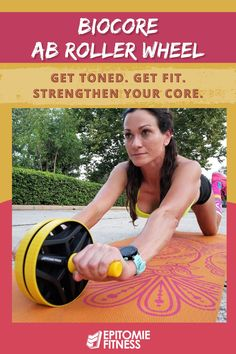 Get toned, get fit, and strengthen your core with the Bio Core Ab Roller! This customer top-rated roller provides a sturdy and smooth ab roller experience to build the six-pack abs you're looking for. Build a stronger and more powerful core without doing crunches! This is the perfect tool for belly-burning toning and ab sculpting. A free kneeling mat is included for added comfort. #absculpting #bellyburning #abwheel #strongcore #abworkouts Strength And Conditioning Workouts, Core Strength Exercises, Back Pain Exercises, Killer Ab Workouts, Killer Abs, Fun Workouts, Ab Wheel Workout, Ab Roller Workout, Summer Body Motivation