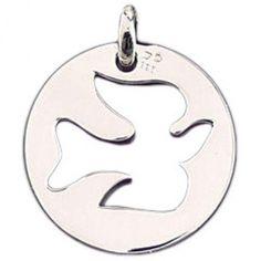 Cette très belle médaille ''colombe'' fera un très joli cadeau de baptême.  Un…