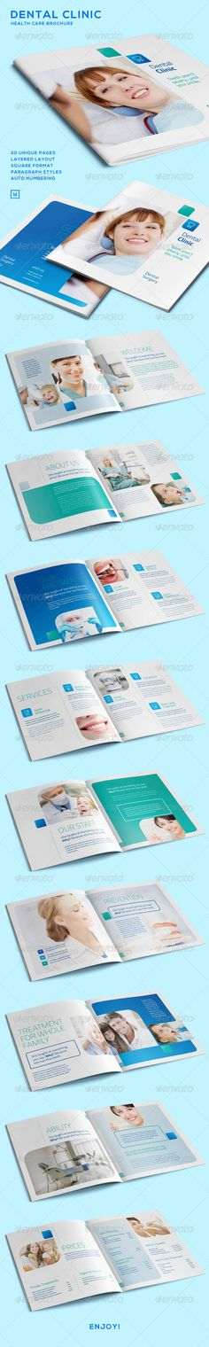 Dental Clinic - Health Care Brochure - Informational Brochures
