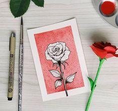 Cool Rose Drawings, Epic Drawings, Flower Art Drawing, Oil Pastel Drawings, Dark Art Drawings, Ink Pen Drawings, Drawing Ideas, Cartoon Drawings, Mandala Sketch
