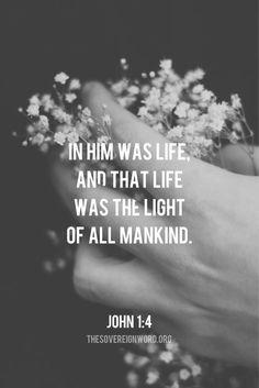 John 1:4 #christian #faith #scripture #light