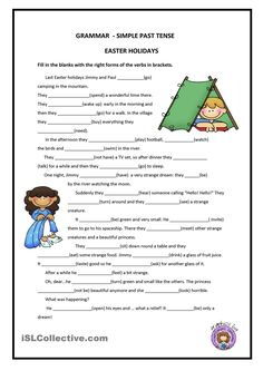 in the series of grammar for beginners. This one is about past tense (weak form). A lot of sentences to practices the spelling rules. Grammar: Past simple. English Grammar Worksheets, English Verbs, Kids English, English Reading, Grammar Lessons, English Lessons, English Vocabulary, Learn English, Easter Worksheets
