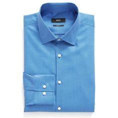 Men's Boss Slim Fit Geometric Dress Shirt (4.635 RUB) ❤ liked on Polyvore featuring men's fashion, men's clothing, men's shirts, men's dress shirts, bright blue, mens slim fit dress shirts, mens slim fit shirts, mens dress shirts and mens slim shirts