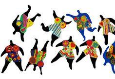 Tanzende Nanas nach Niki de Saint Phalle, Kunstunterricht Grundschule, Anke Kremer