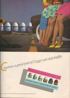 L'eggs Pantyhose Ad in Teen Magazine August 1985 80s Fashion