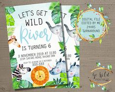 Printable Party Invitations and Printable Decorations by GoWildPrintables Digital Invitations, Party Invitations, Printable Party, November 2019, Etsy Seller, Etsy Shop, Handmade Gifts, Kid Craft Gifts, Craft Gifts