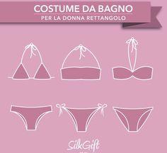 Siete una donna rettangolo? Scoprite con noi quali costumi scegliere e quali evitare assolutamente grazie a Silk Gift Milan su http://www.stilefemminile.it/costume-da-bagno-donna-rettangolo/