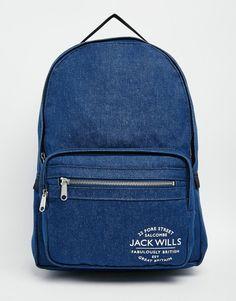 Image 1 ofJack Wills Classic Backpack in Indigo