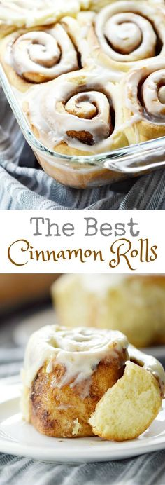 Good morning sunshine! These are The Best Cinnamon Rolls guaranteed to brighten up the dreariest of mornings, and they come with two icing options!!