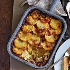This crispy, cheesy, creamy stilton and bacon gratin is just what you need on the cold winter nights after Christmas.
