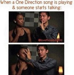 i have done this several times... to my bestest friend... and she understands.. hehe i love how my best friend is a directioner!!