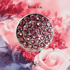 Dare to dazzle with this radiantly bejeweled attachable Rose Ice Dot. #styledots