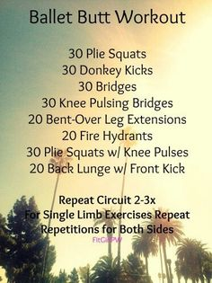 Ballet Butt Workout Started with this one on Thursday. Nice starting point, but couldn& quite finish all the reps yet. Ballerina Workout, Ballerina Diet, Fitness Tips, Fitness Motivation, Workout Fitness, Boxing Workout, Workout Tips, Workout Routines, Ballet Body
