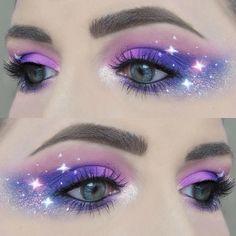 Ashley Roselle on In Eyeliner Make-up, White Eyeliner Makeup, Bold Eye Makeup, Creative Makeup Looks, Makeup Art, Exotic Makeup, Fairy Makeup, Mermaid Makeup, Eye-liner Blanc