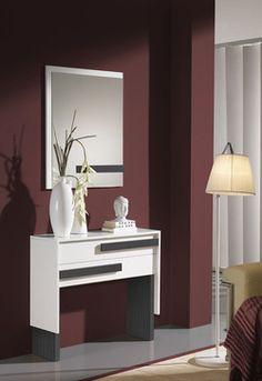 meuble d'entrée blanc et gris moderne tryo | ^_^ design ... - Meuble D Entree Design
