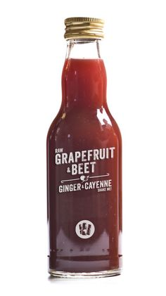 Grapefruit, beet and ginger root.