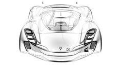 GB industrial design pencil concept car sketch