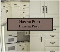 Decorated Chaos: How to Paint Drawer Pulls - Kitchen Update on a Budget