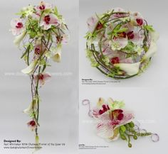 Orchid Wedding Designs. Like top left and top right. But hanging part needs to be different.